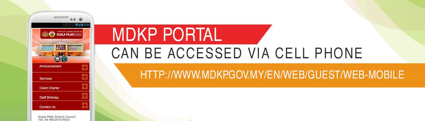 MDKP Portal can be accessed via Cell Phone